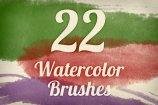Watercolor Strokes Brush Pack 2