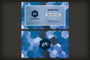 Bold Geometric Business Card Template 1