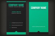 Dark Bold Business Card Template