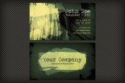 Dark Watercolor Business Card Template 1