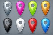 Glossy Map Markers 1