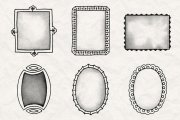 Hand Drawn Frames Brush Pack 1