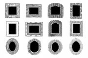 Hand Drawn Vector Frames Pack 4