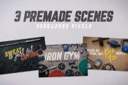 Iron Gym Scene Creator Volume 1
