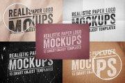 Paper Logo Mockups Volume 1