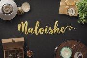 Maloishe Brush Script Font