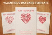 Simple Valentine's Day Card Template