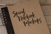 Spiral Notebook Mockups Volume 1