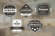 Vintage Badges Vector Pack 5