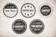 Vintage Circular Badges Vector Pack 1
