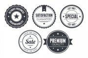 Vintage Circular Badges Vector Pack 2