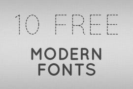 10 Useful Modern Fonts for Designers
