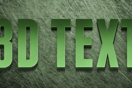 How to Create an Editable 3D Text Effect in Photoshop