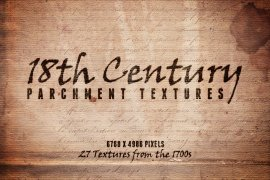 18th Century Parchment Textures Volume 1