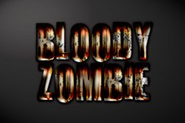 Bloody Zombie Photoshop Style