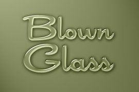Blown Glass Photoshop Style