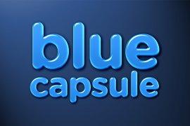 Blue Capsule Photoshop Style