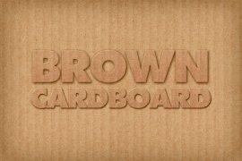Brown Cardboard Photoshop Style