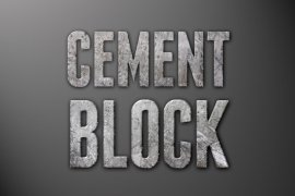 Cement Block Photoshop Style