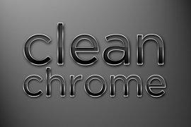 Clean Chrome Photoshop Style
