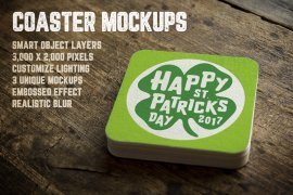 Coaster Mockups Volume 1