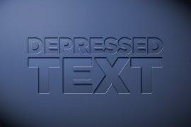 Depressed Text Photoshop Style
