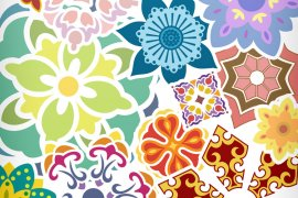 Flower Ornament Vector Pack 1