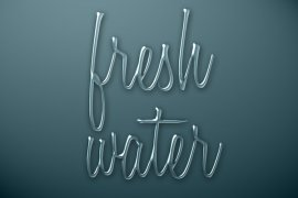 Fresh Water Photoshop Style