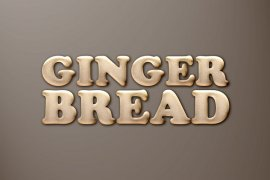 Gingerbread Cookie Photoshop Style