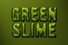 Green Slime Photoshop Style