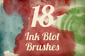 Ink Blot Brush Pack 1