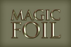 Magic Foil Photoshop Style