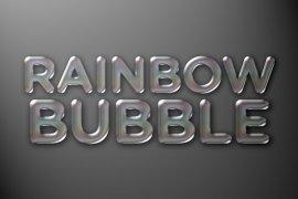 Rainbow Bubble Photoshop Style