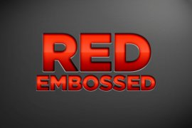 Red Embossed Photoshop Style