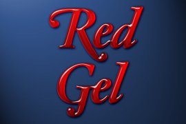 Red Gel Photoshop Style