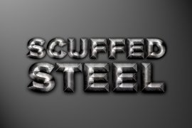 Scuffed Steel Photoshop Style