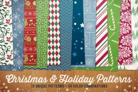 Seamless Christmas & Holiday Patterns Volume 1