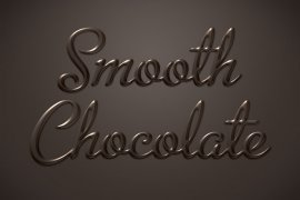 Smooth Chocolate Photoshop Style