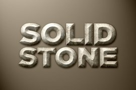 Solid Stone Photoshop Style