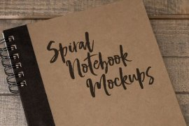 Spiral Notebook Mockups Volume 1
