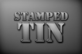 Stamped Tin Photoshop Style