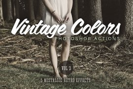 Vintage Colors Actions Volume 2