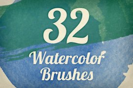Watercolor Strokes Brush Pack 1