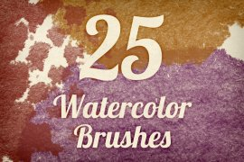 Watercolor Strokes Brush Pack 3