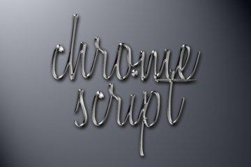 Chrome Script Photoshop Style