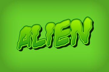 Comic Alien Photoshop Style