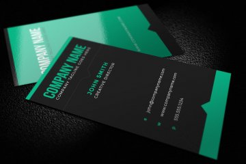 Dark Bold Business Card Template
