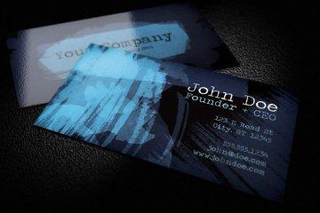 Dark Watercolor Business Card Template 1
