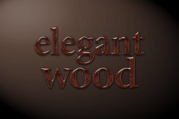 Elegant Wood Photoshop Style