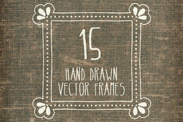 Hand Drawn Vector Frames Pack 1